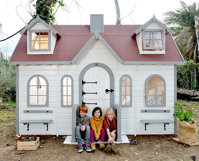 Frontal casita de madera para niños Lugano casitas Sofía y Lucía