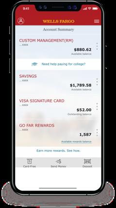 Account Summary Screen In The Wells Fargo Mobile App Wells Fargo Signature Cards Fargo