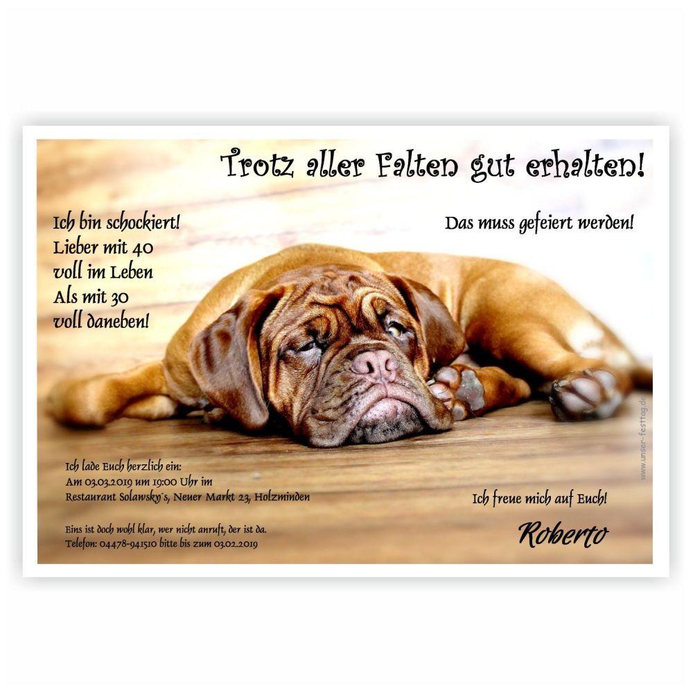 Lustige Geburtstagseinladung Mit Faul Auf Dem Boden Liegenden Hund. Cooler  Spruch Mit Wunschtext · EinladungstextEinladungskartenGeburtstagBirthday