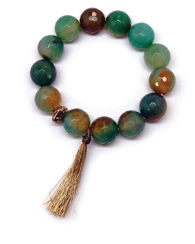 Polished Stone Beads Bracelet