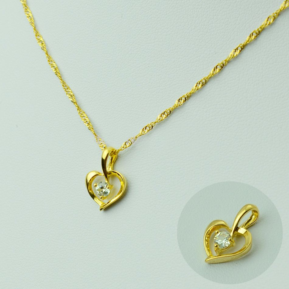 Heart Pendant Necklaces For Women Gold Plated Romantic Jewelry Chain Gifts For Mom Girlfriend Sister Daughter Girl 045702 펜던트 목걸이 펜던트 목걸이