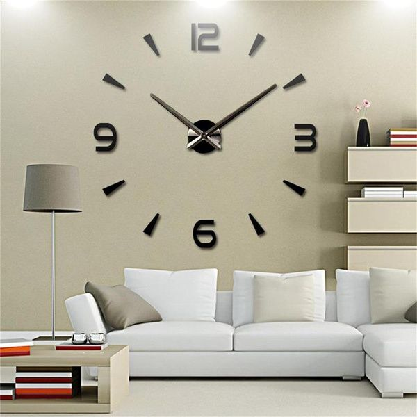 New Wall Clock Reloj De Pared Quartz Watch Living Room Large Decorative Clocks Modern Horloge Murale Stickers Wish Living Room Clocks Large Wall Clock Wall Clock Sticker