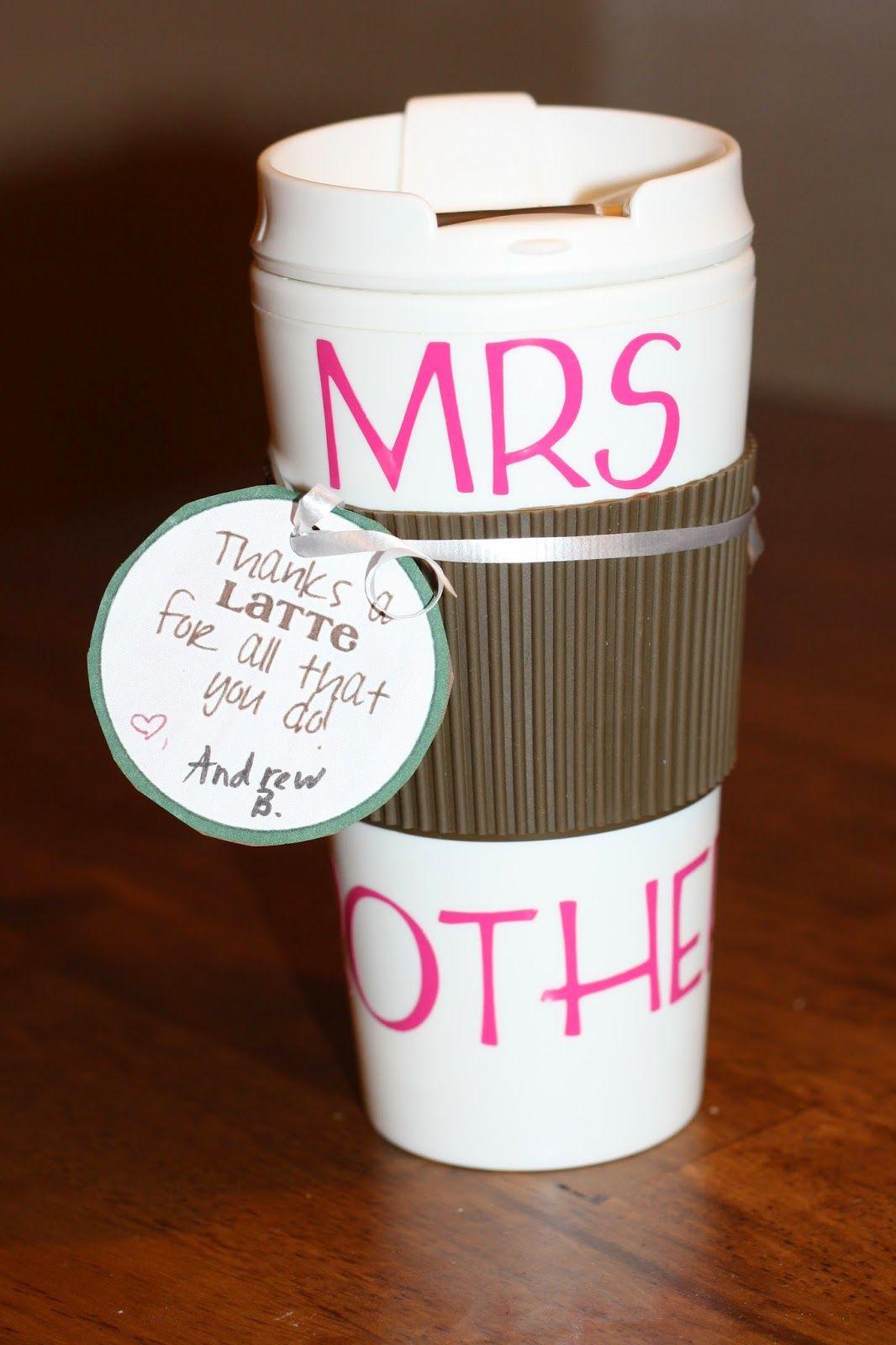 Personalized Coffee travel mug for teacher appreciation