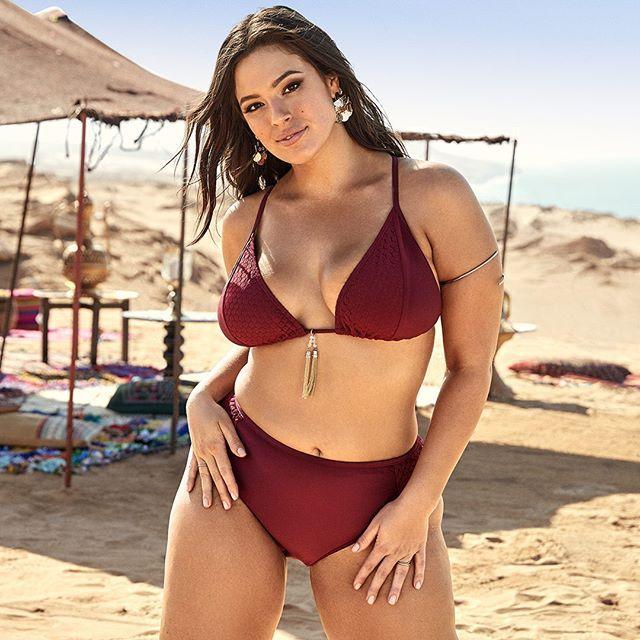 Ashley Graham Red Bikini, Swimsuits For All, Curvy  Curvy -4952