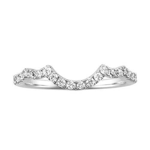 1/4 Carat Total Weight Diamond Wedding Band in 14 Karat White Gold Now $499.00 (Original Price $895.00) at FredMeyerJewelers.com Valid through 02-15-2015