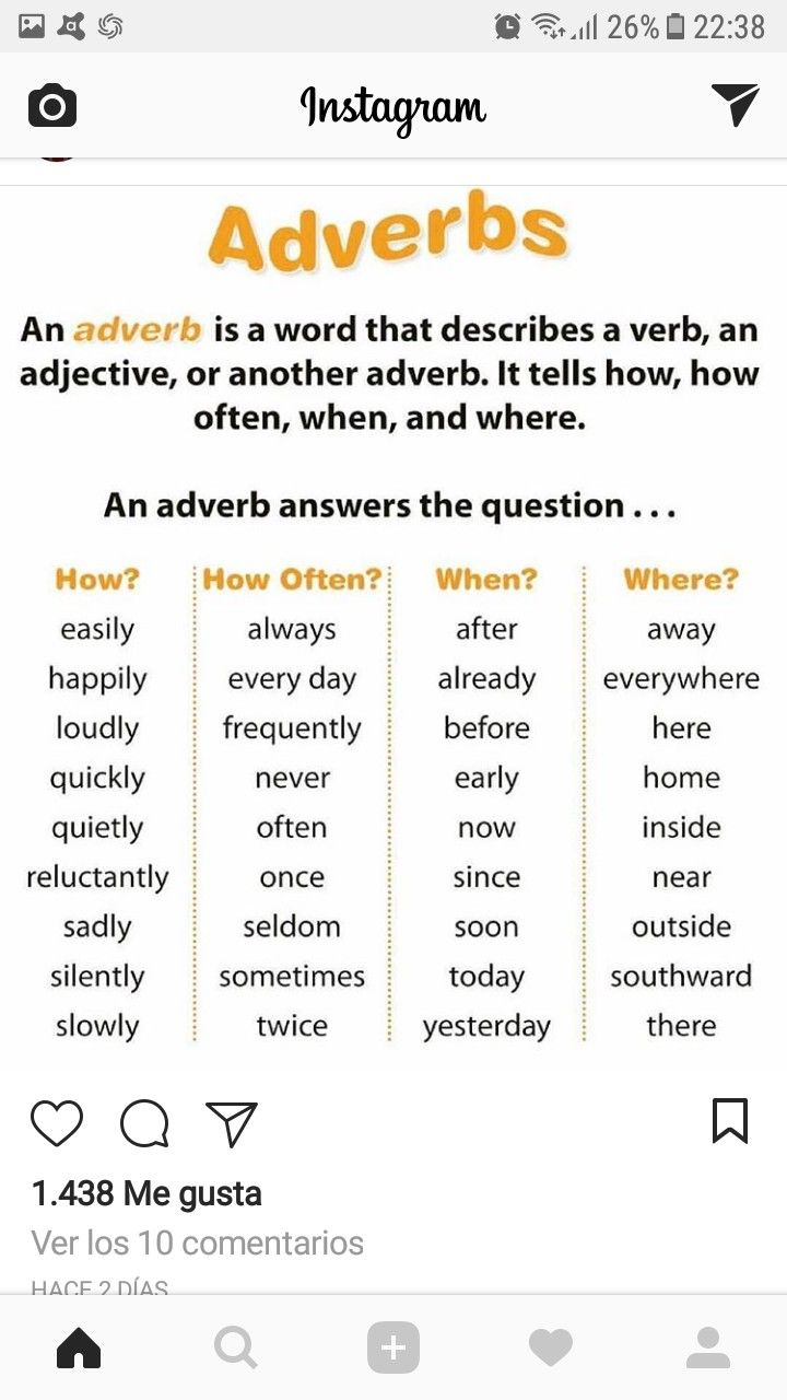 medium resolution of Adverbs   English grammar