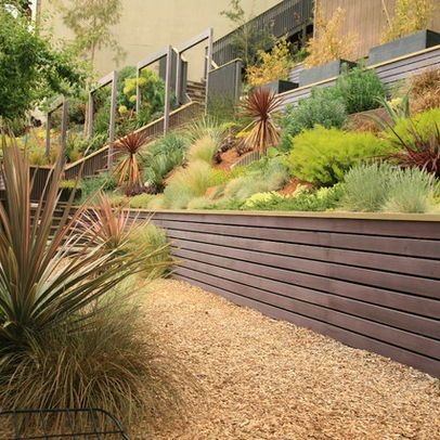 Modern Wood Retaining Wall