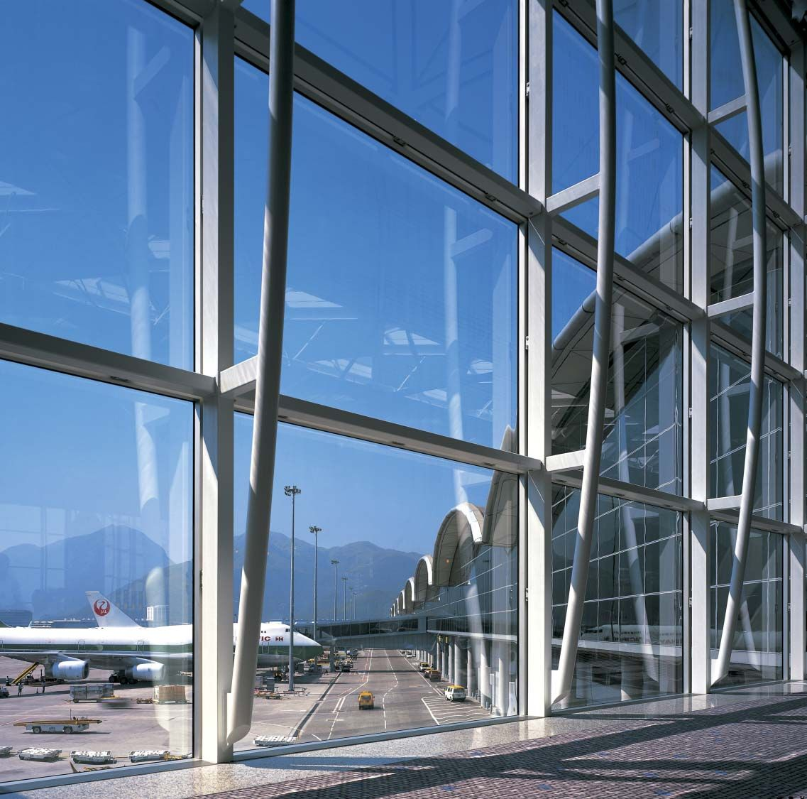 Chek Lap Kok Airport Gallery Projects Foster Partners