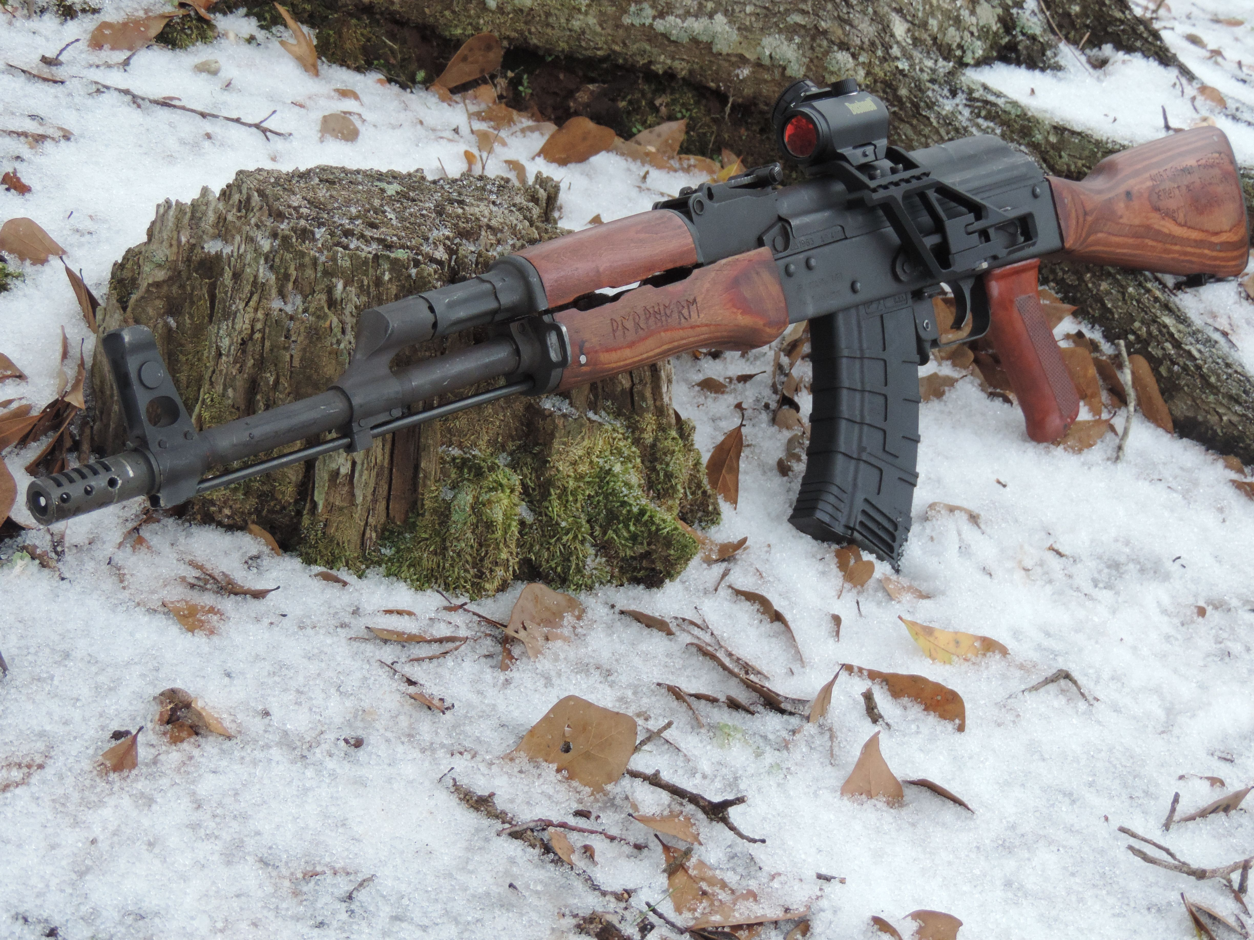 My personal Wasr 10/63  Rs regulate rail and trs-25 red dot  I