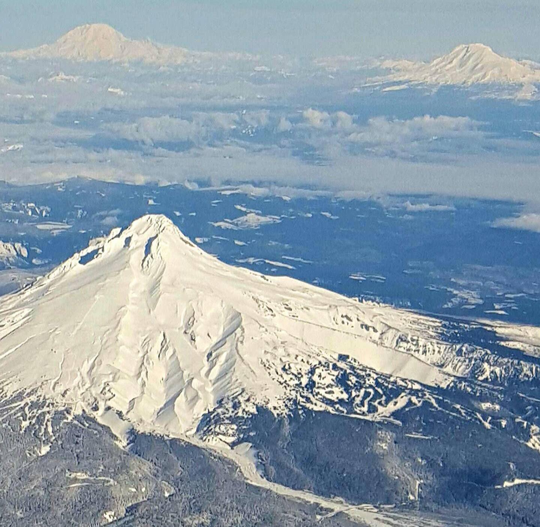 Mt. Hood, Mt. Adams, Mt Rainier by Trish Greer Martin