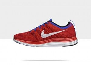 sale retailer 6c280 b0718 ... Chaussures Nike Flyknit Lunar 1+ mode courir Homme Rouge   Blanc   Bleu  Royal pas Nike Flyknit Air Max Hommes Gris ...