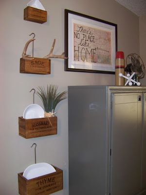 The Sunset Lane~ Gray Hutch, Herb Crates