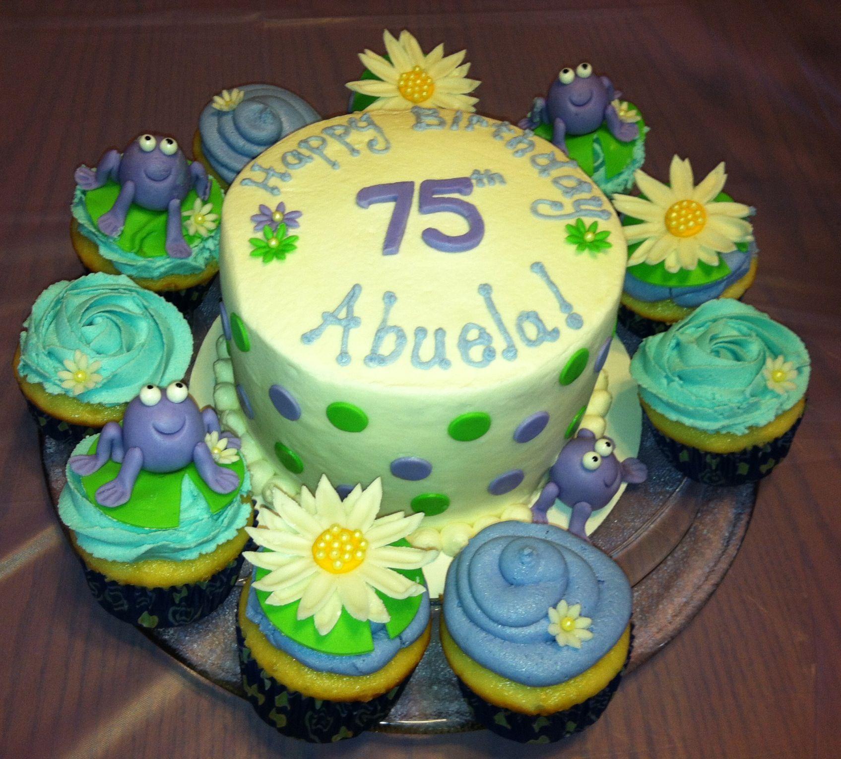 Moms 75th birthday cake made by Jayne Jaynes Creations