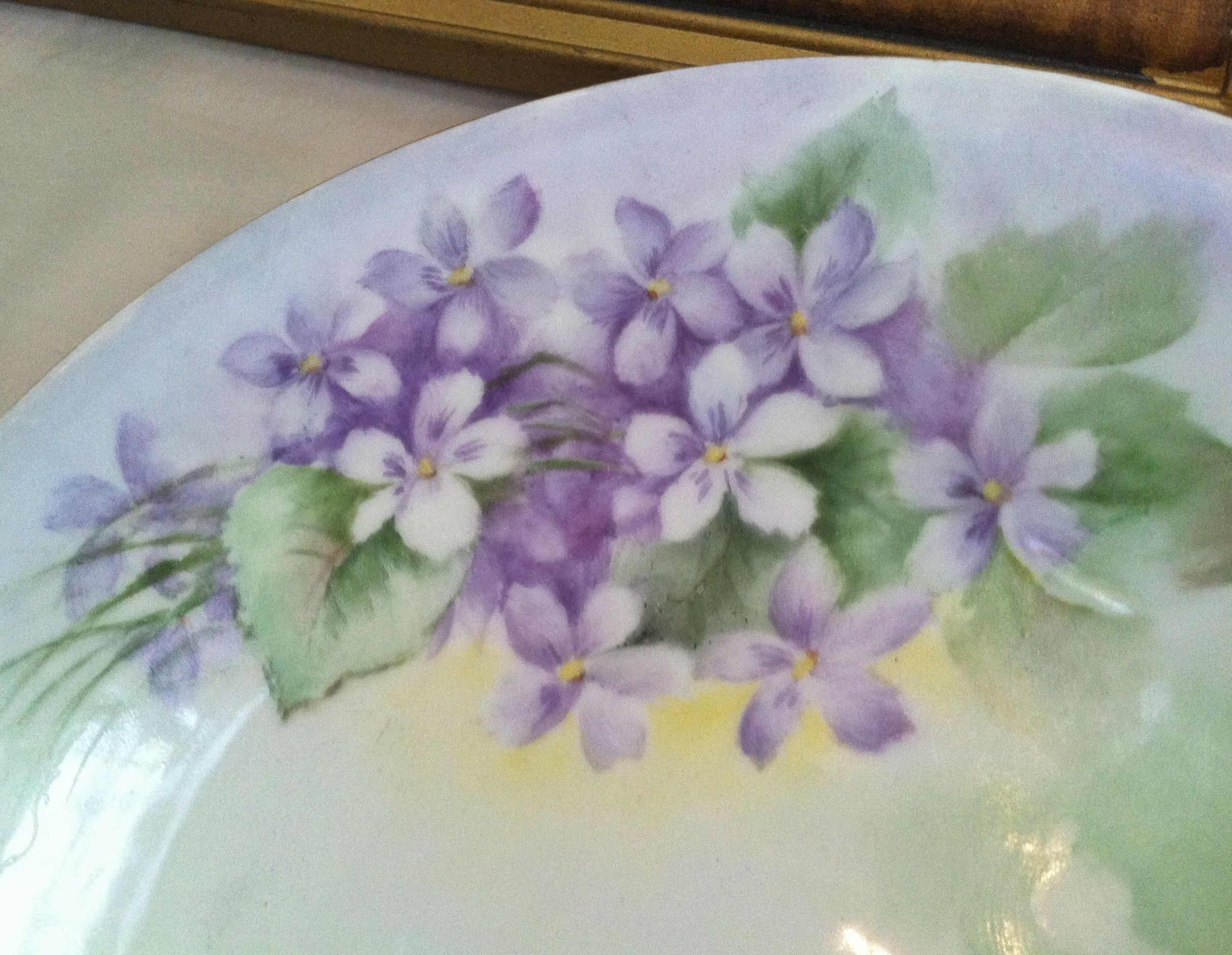 Vintage hand-painted violets plate made in Germany. : german made dinnerware - pezcame.com