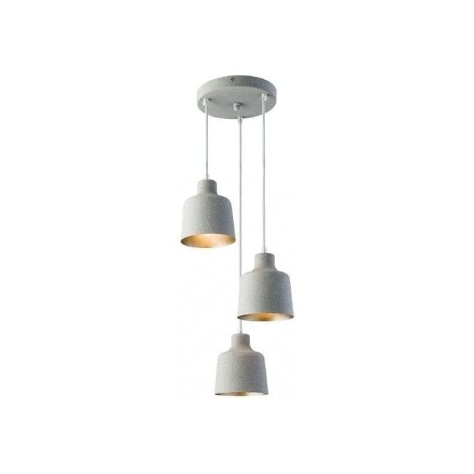 Endon lighting holden 3 light ceiling pendant in granite painted finish lighting type from castlegate