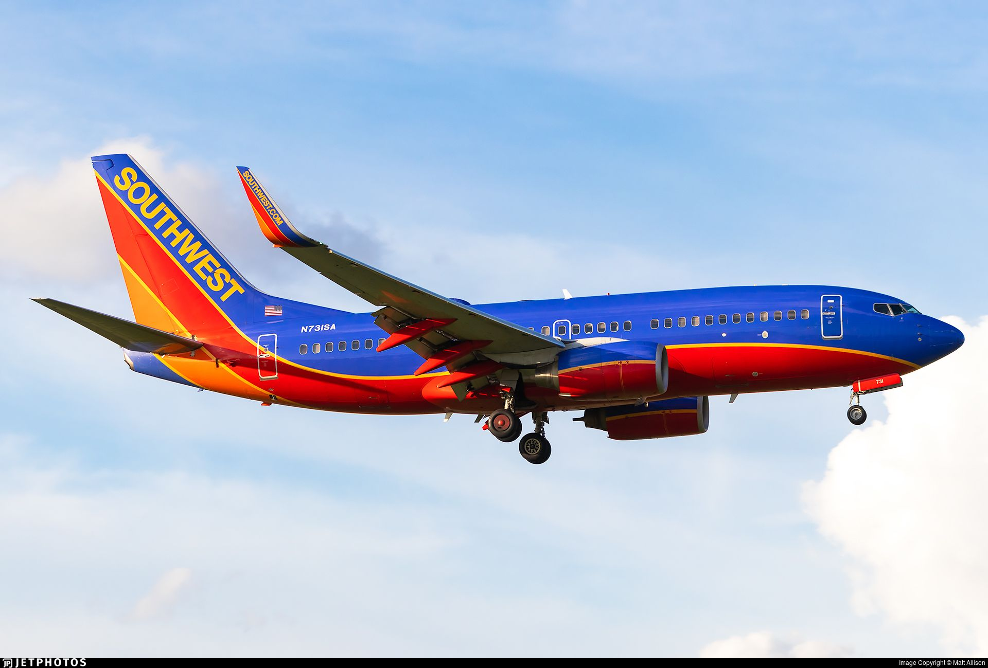 N731SA Boeing, Boeing 737, Southwest airlines