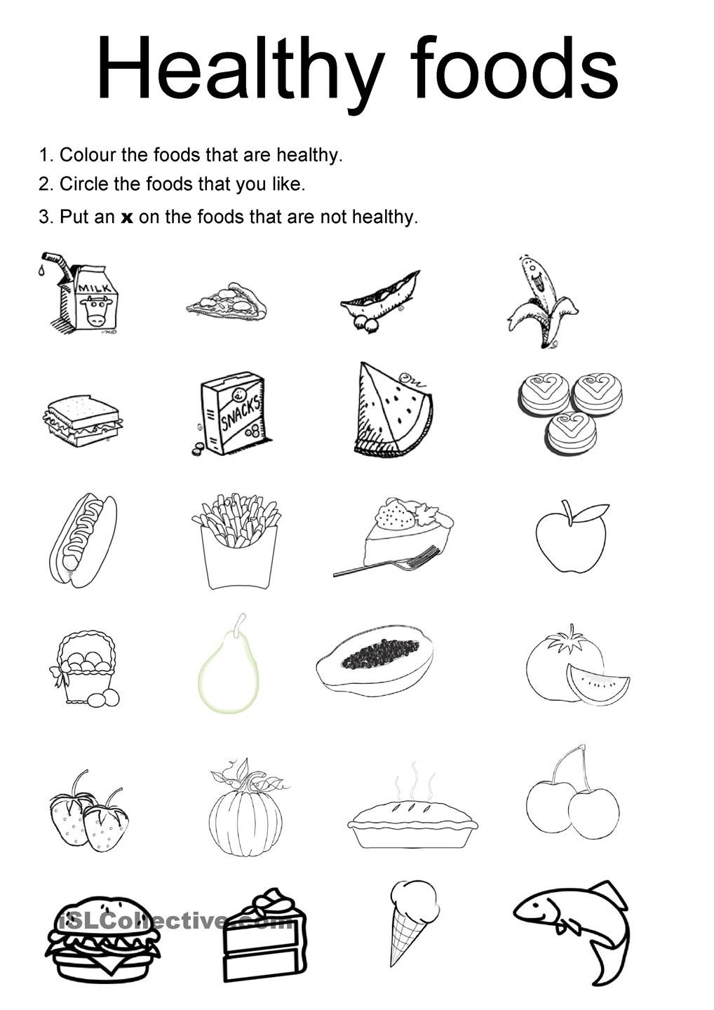 Healthy Foods For Kids Worksheets Good Galleries – High School Health Worksheets