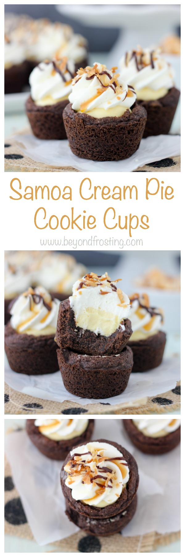 Samoa Cookie Cups | Recipe | Samoa, Samoa cookies and Coconut
