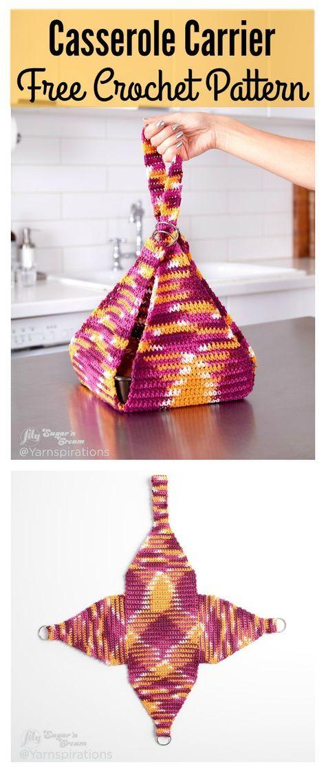 Casserole Carrier FREE Crochet Pattern | Muñecas de trapo, Platos y ...