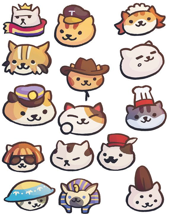 neko atsume stickers rare cats rare cats cat and stuffing. Black Bedroom Furniture Sets. Home Design Ideas