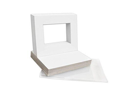 Mat Board Center 8x10 Picture Mat Sets For 5x7 Photo Includes A Pack Of 50 White Core Bevel Precu Picture Frames For Sale Matting Pictures Cheap Picture Frames