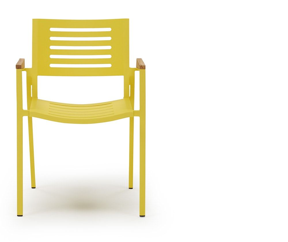 Orly Yellow Outdoor Dining Chairs Set Of 4 Joybird Outdoor Dining Chairs Outdoor Dining Room