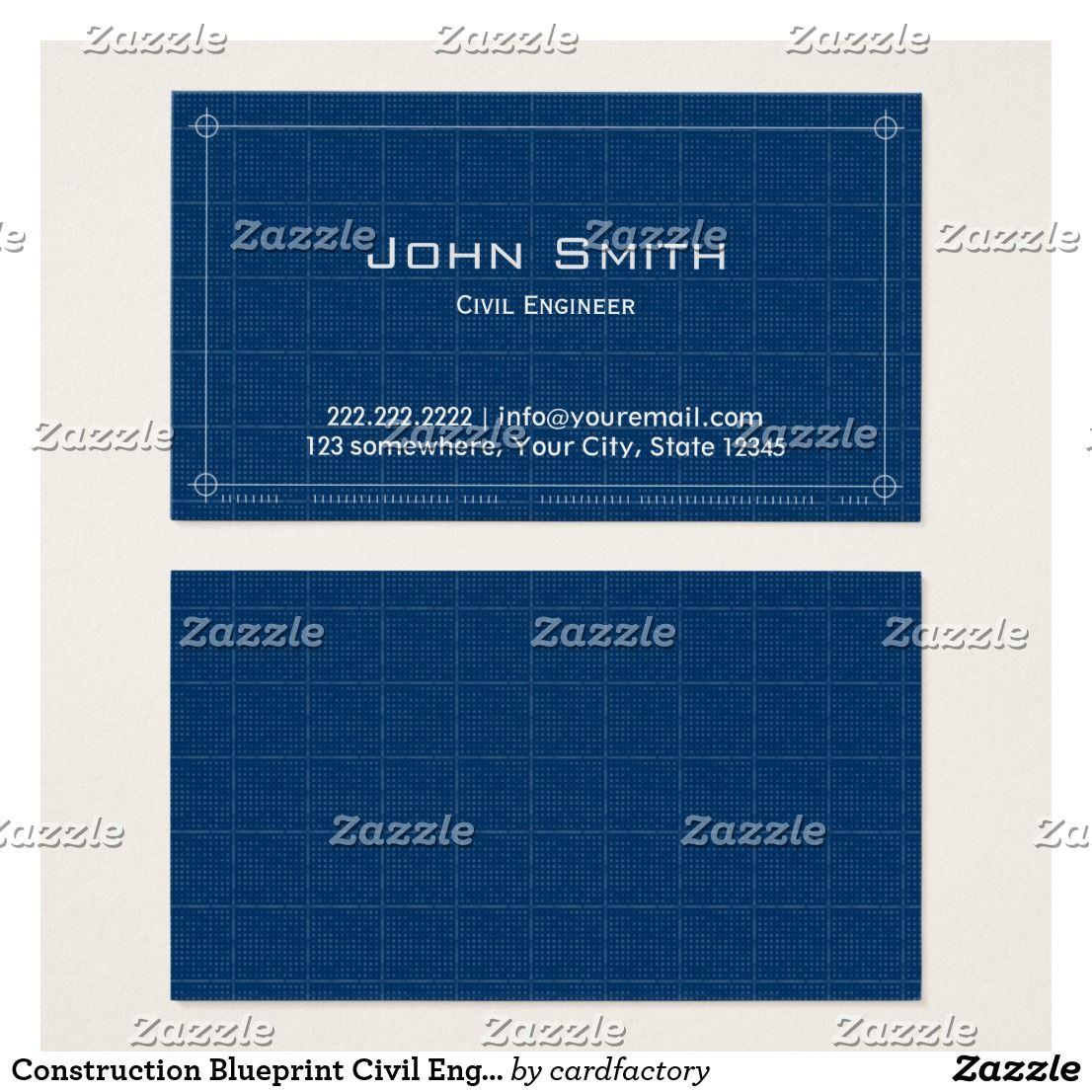Blueprint Civil Engineer Business Card