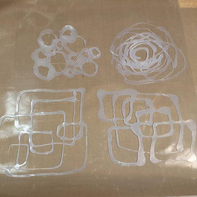 Creative use of the glue gun! #masks #gelliplate #gelliarts