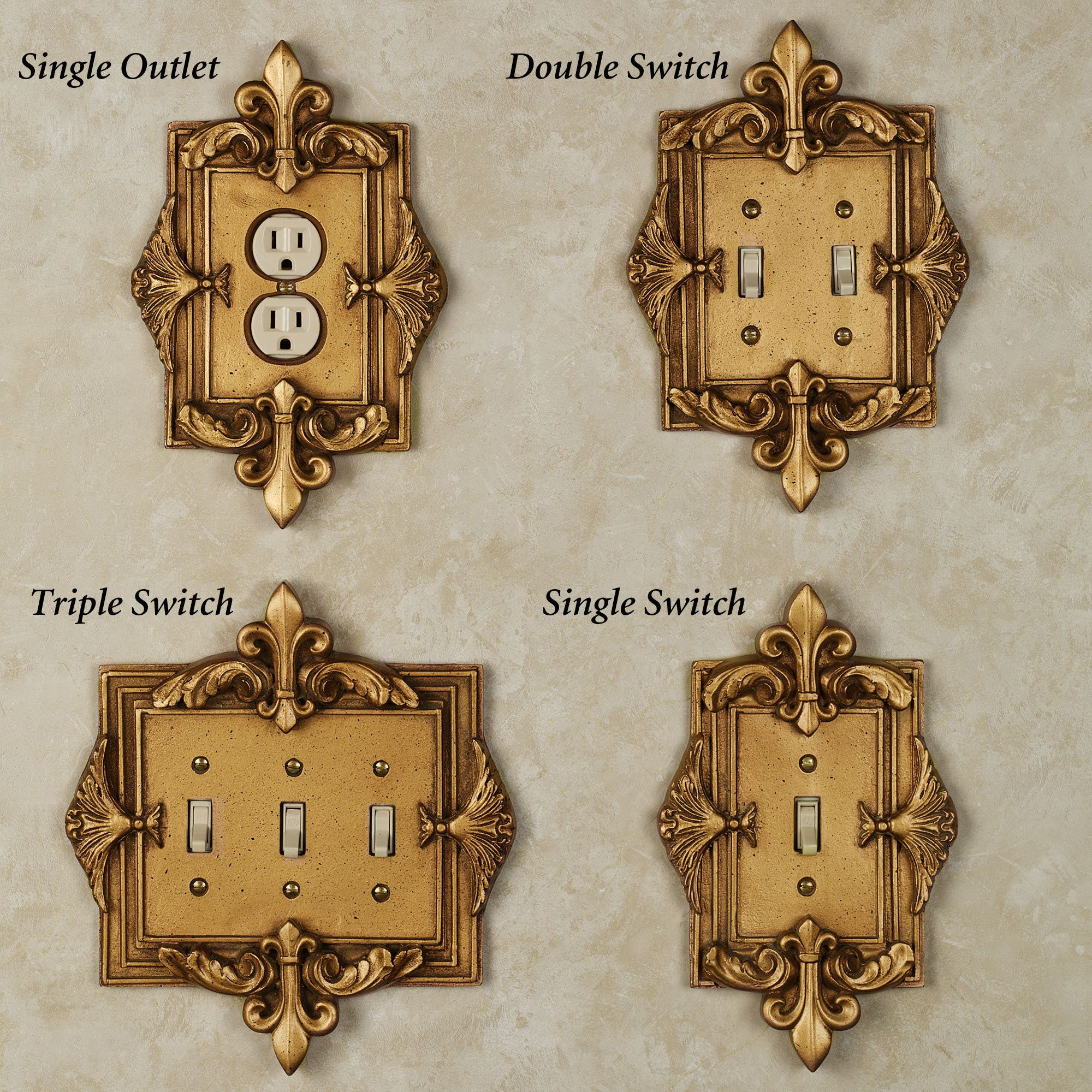 electrical wall plate covers decorative electrical wall.htm fleurance large switchplates gold bedroom decor  light switch  fleurance large switchplates gold