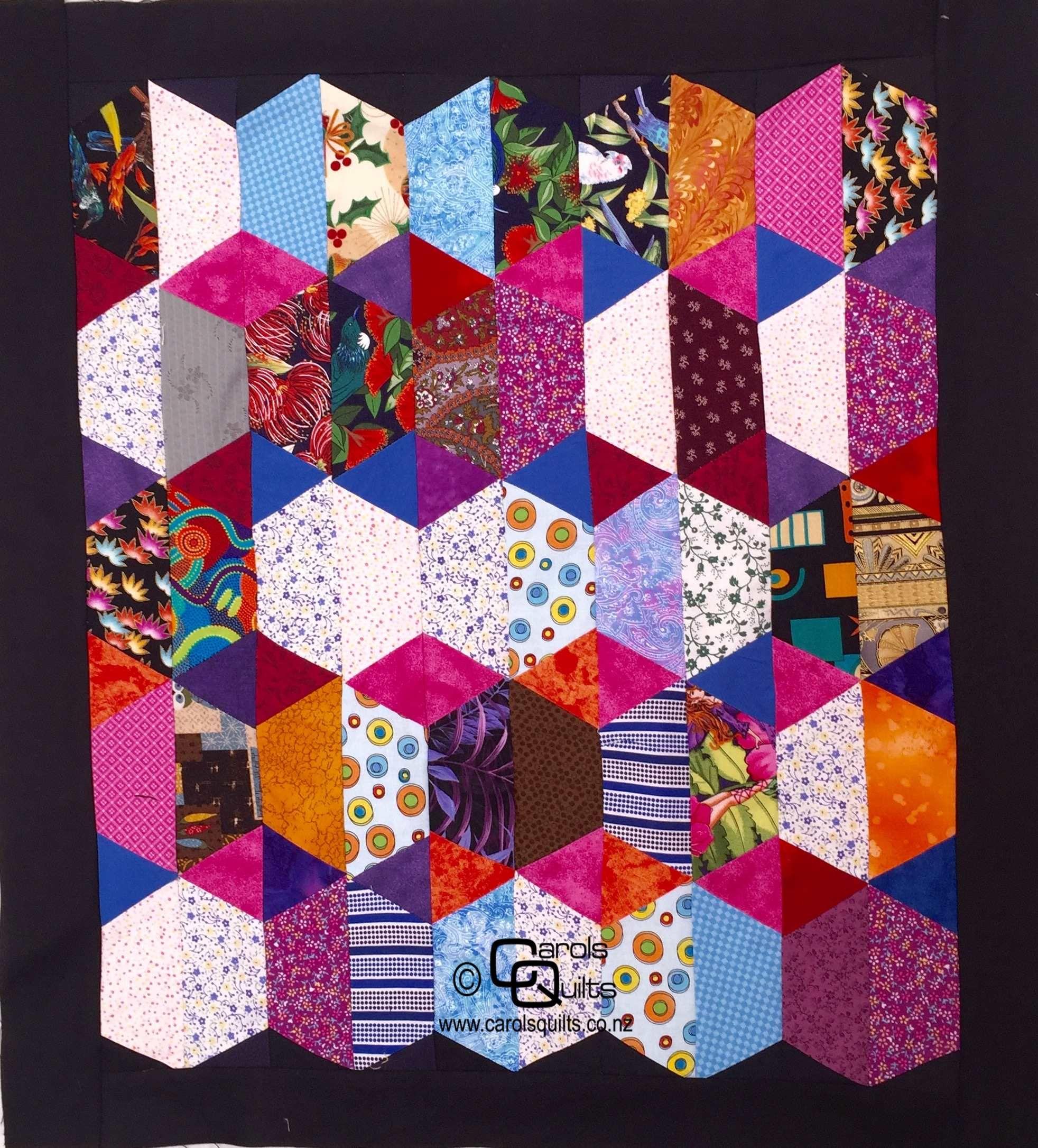 Free Half Hexagon Quilt Patterns | Hexagon quilt pattern, Hexagon ... : hexagon quilts patterns - Adamdwight.com