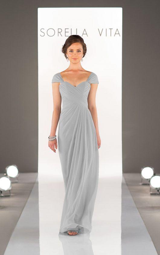 8630 Chiffon Bridesmaid Dress by Sorella Vita available at Carrie Karibo Bridal Cincinnati, Ohio www.carriekaribobridal.com