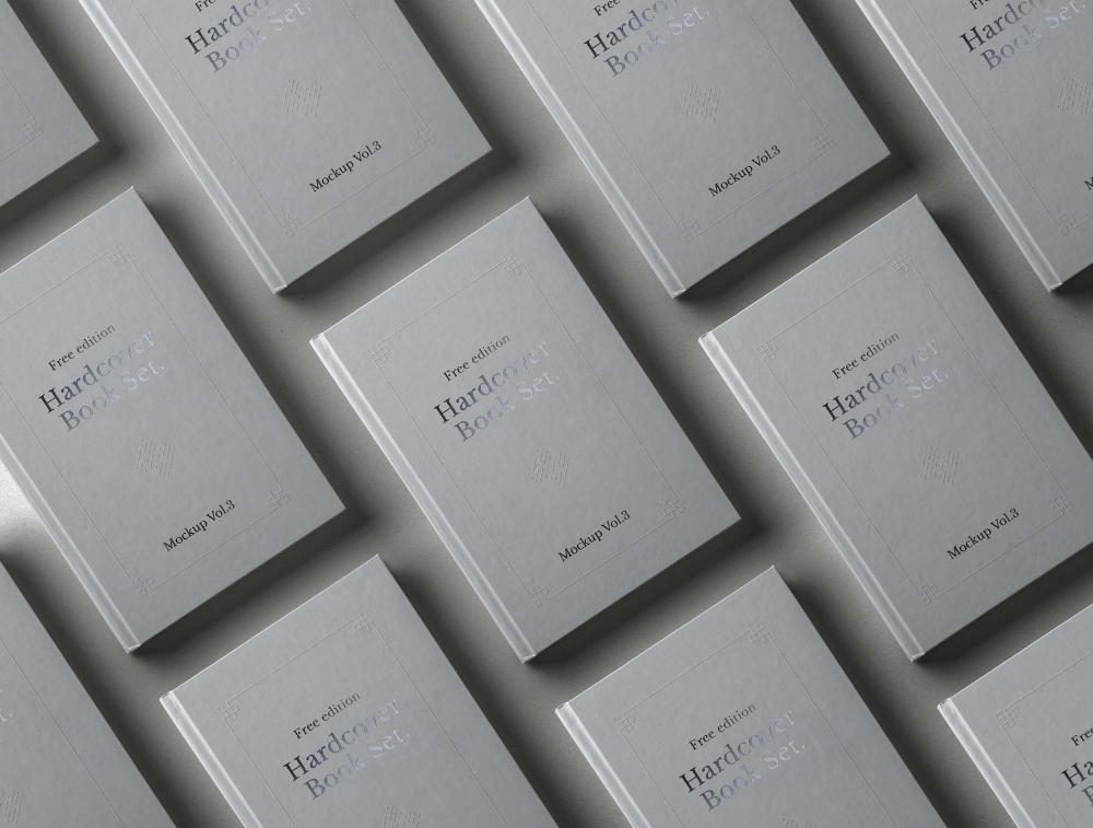 Hardcover Books Mockup (PSD) Hardcover book, Mockup