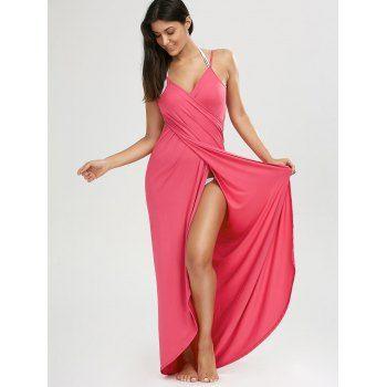 Watermelon Red Maxi Summer Dress