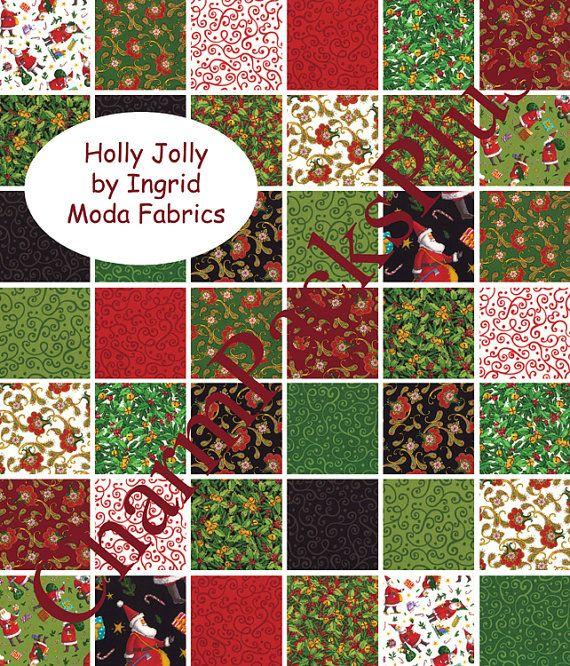 HOLLY JOLLY by Ingrid Moda Charm Pack Christmas by charmpacks ...