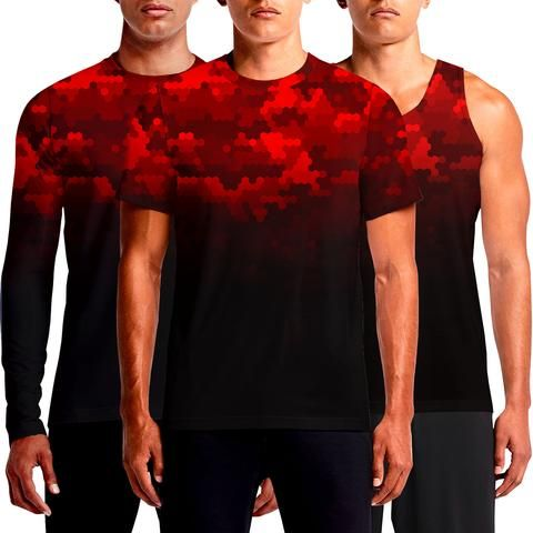 b681782ebfeaf The Hunt is Over - Hex Red Camo Digital T Shirt For Men T-Shirts ...