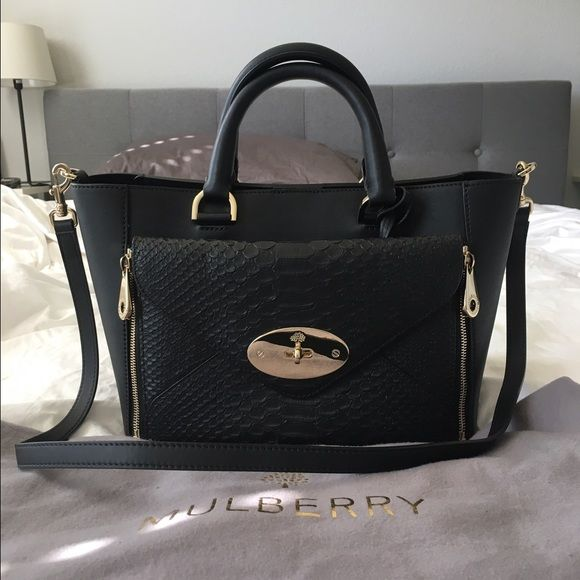 975b584137da Mulberry Small Black Willow Tote Brand new w o tag   Authentic Mulberry  Small Willow