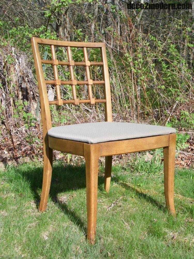 Swell Vintage Mid Century Modern Drexel Lattice Back Sabre Leg Dailytribune Chair Design For Home Dailytribuneorg