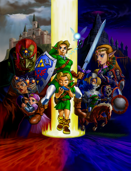 File:Ocarina of Time 3D Poster.png