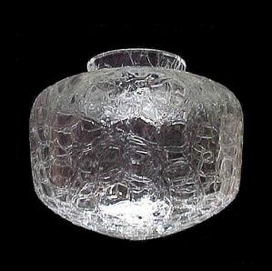 Clear Crackle Glass Light Shade Schoolhouse Globe Lighting Replacement Lampshade For Semi Drop