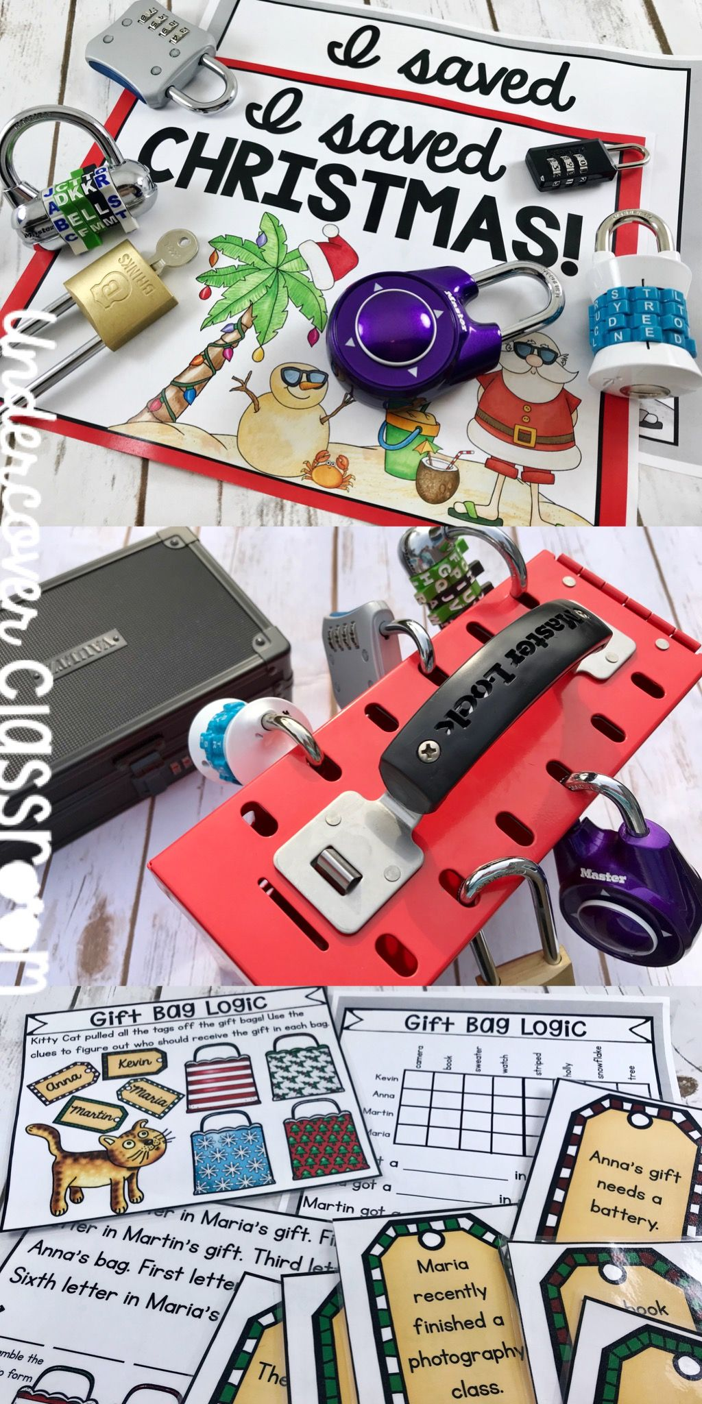 Christmas Activity Lockbox Challenge Enrichment