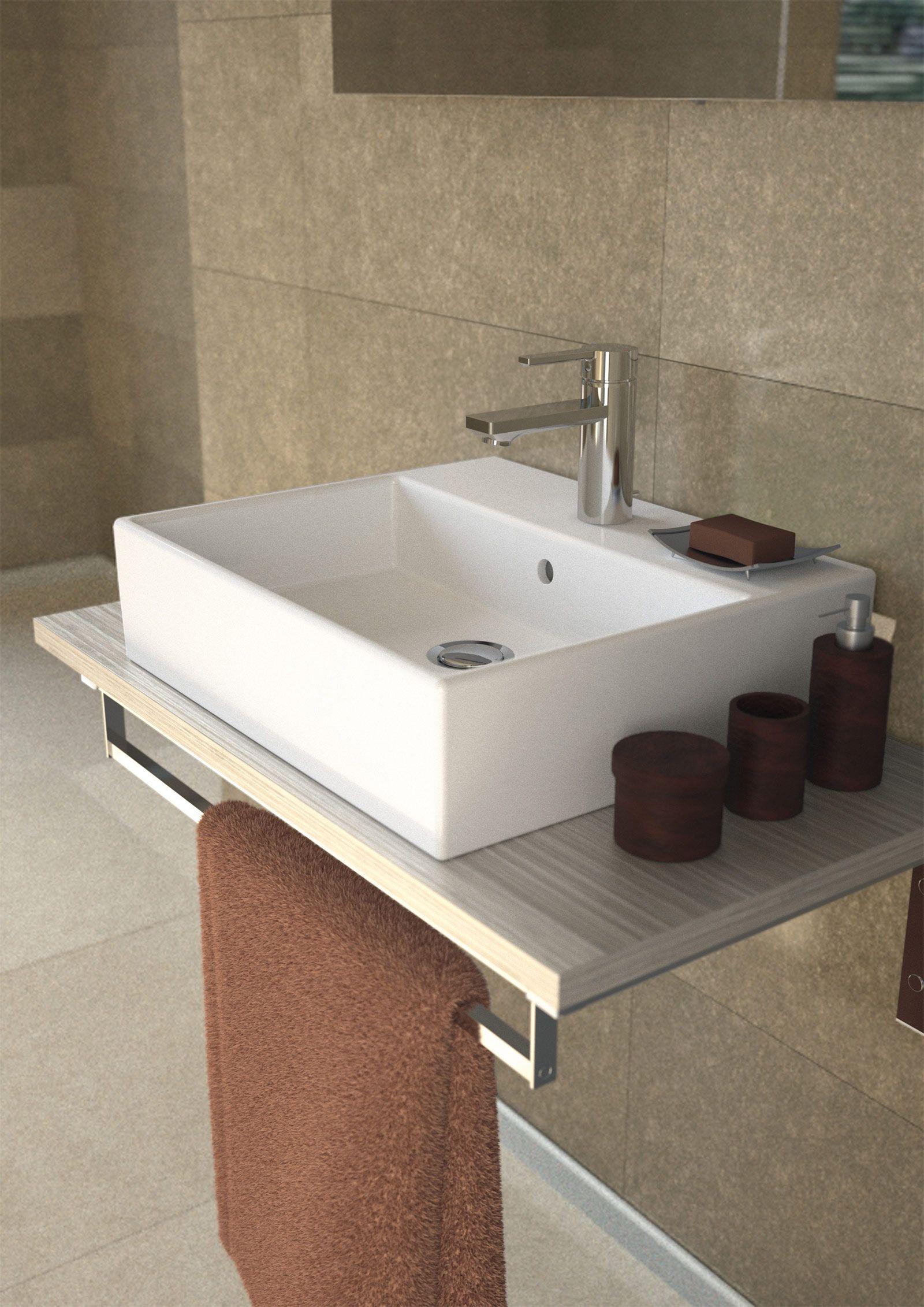 il lavabo con troppopieno in ceramica bianca strada di ideal