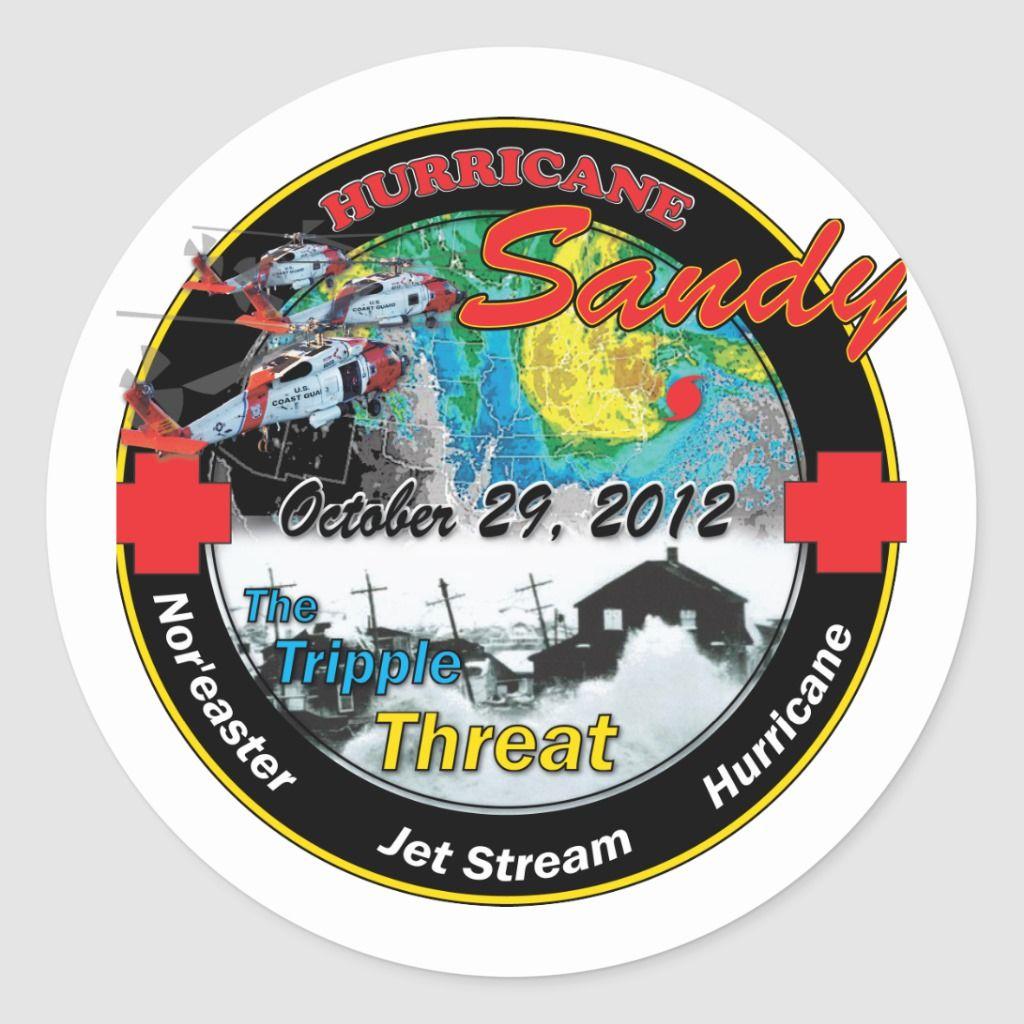 Hurricane Sandy Super Storm Classic Round Sticker Zazzle Com In 2020 Hurricane Sandy Round Stickers Hurricane Storm