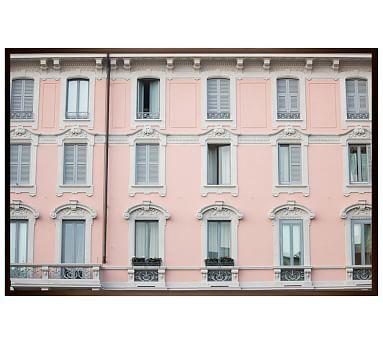 """Corso Como Windows by Rebecca Plotnick, 28 x 42"""", Wood Gallery, Espresso, No Mat"""
