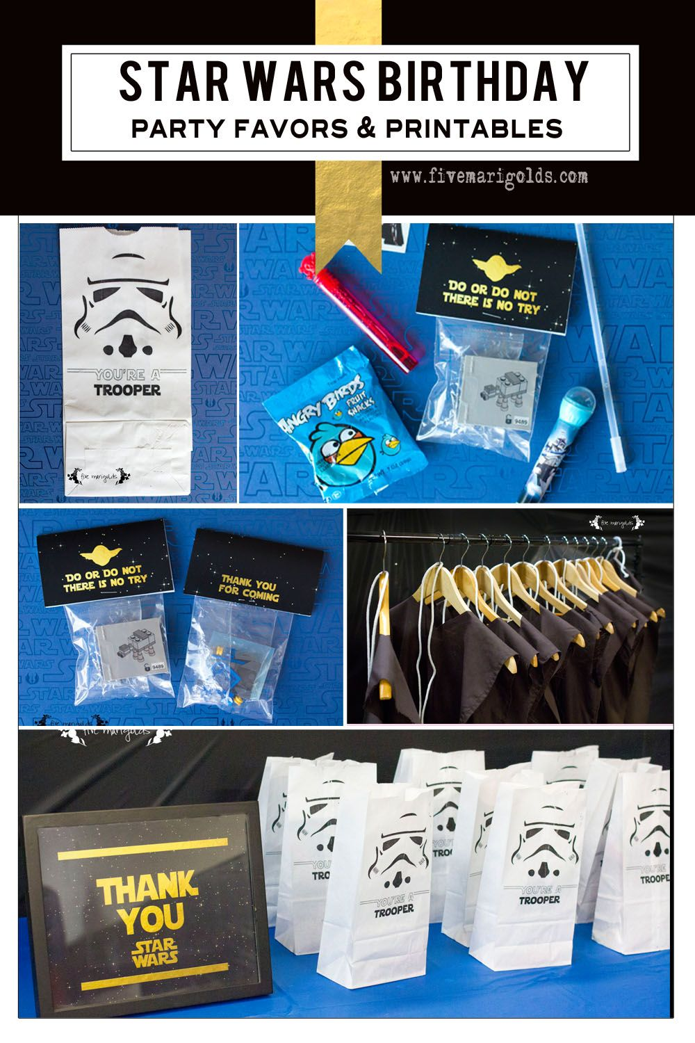 Star Wars Birthday Party Part II Party Favors Training academy