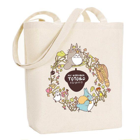 e8fc0ac18e My Neighbor Totoro Tote Bag Studio Ghibli Canvas by BluePotionUK ...