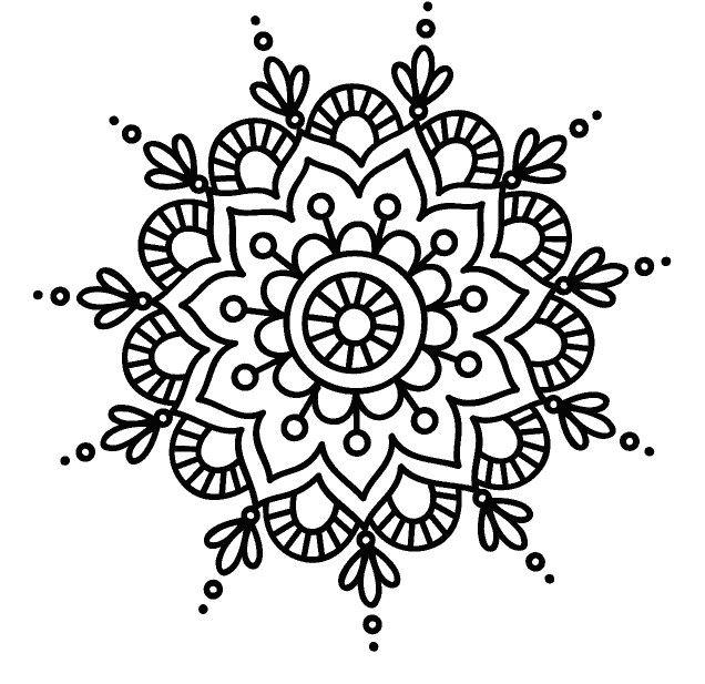 Pin de saby en mandalas et zentangles | Pinterest | Mandalas, Dibujo ...
