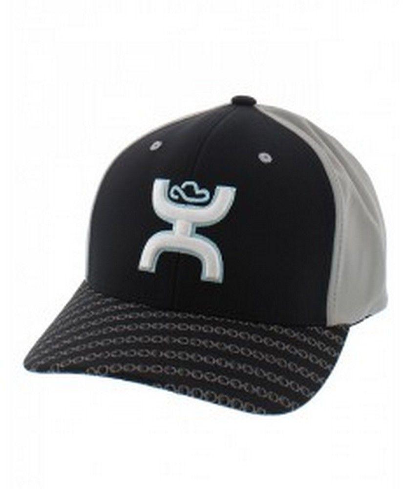 best sneakers 6bc9e 1abfa Hooey® Men s Solo III Black Grey FlexFit Cap