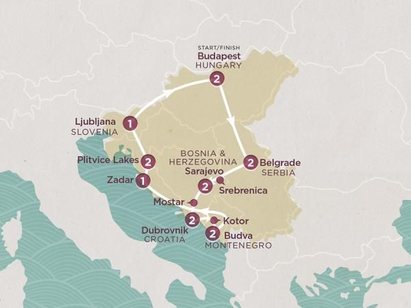 Visiting Countries Hungary Serbia Bosnia And Herzegovina - Montenegro maps with countries