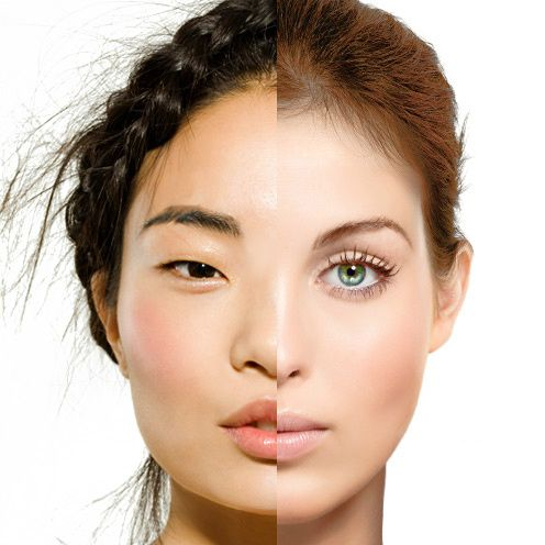 Asian facial traits