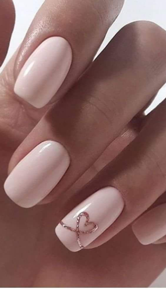 Lovely collection of heart nail designs – 70 pictures – Our Nail